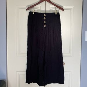 Shinestar wide leg high waisted pants